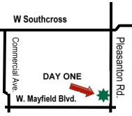 Click here for Larger Map for Day One Physical Therapy.